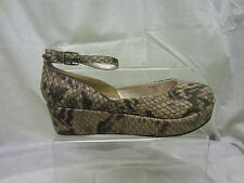 Ladies Spot On Nude Snake Wedge Shoe, Nude Snake, F9537