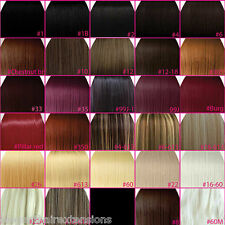 """FULL HEAD Clip In Hair Extensions 15"""" 18"""" 20"""" 22"""" 24"""" Straight  ANY COLOUR STYLE"""