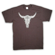 NATIVE AMERICAN BUFFALO SKULL WESTERN COWBOY T SHIRT ALL COLOURS AND SIZES