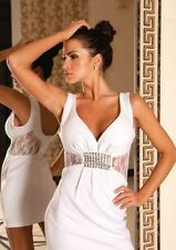 New Ladies Womens Wedding Lace Cocktail Party Evening Sexy Mini Prom Dress