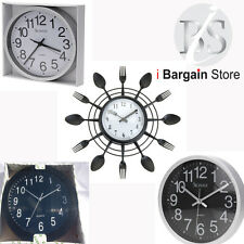 Wall Clock Various Modern Size Colour Design Home Kitchen Office School Quality