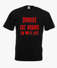 ZOMBIES EAT BRAINS (SO YOU'RE SAFE) ON T-SHIRTS