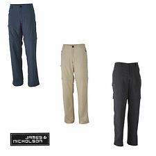 James & Nicholson Mens Zip Off Pants JN583 Trekking Herren Hose Outdoor