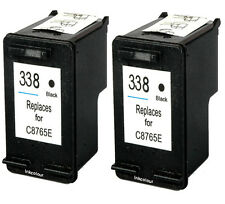 2 Non-OEM Replaces For HP 338 Black Ink Cartridges