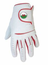 Mens Cabretta Leather Golf Glove + Wales Magnetic Ball Marker