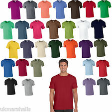 10 Pack Gildan Softstyle Plain Mens T Shirt 100% Cotton 30 Colours Blank 36-52""