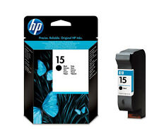 HP 15 Genuine Black Printer Ink Cartridge C6615DE