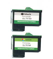 2 Non-OEM For Dell 7Y743 & 7Y745 Ink Cartridges Black/ Colour