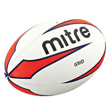 NEW Mitre Grid All Weather Rugby Ball - Cheap Affordable Training Ball Size 4 5