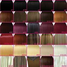 """FULL HEAD 15"""" 18"""" 20"""" 22"""" 24"""" Clip In Hair Extensions STRAIGHT ANY COLOUR / SIZE"""