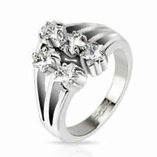 "Herren Damen Ring ""Five Star""  Big Zirkonia Verlobung NEU - SCHMUCK von COOLBODY"