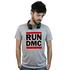 T-Shirt Run Dmc, maglietta grigia con logo Rap, Hip hop old school, anni 80