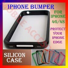 "ACM-IPHONE 4S 4G BUMPER SILICON CASE PROTECTOR ""PROTECT YOUR IPHONE EDGES NOW"""