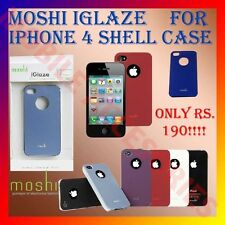 ACM-MOSHI IGLAZE HARD SHELL CASE FOR APPLE IPHONE 4G 4S 4+SCREEENGUARD FREE