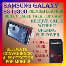 ACM-SAMSUNG GALAXY S3 I9300 PREMIUM LEATHER DIRECT TABLE TALK FLIP COVER STAND
