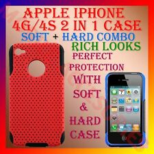 ACM-2 in 1 COMBO HARD & SOFT SILICON & TPU CASE COVER for IPHONE 4S 4G 4 BACK