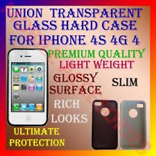 ACM-UNION TRANSPARENT GLASS HARD CASE COVER BACK FOR IPHONE 4S 4G 4 POUCH LATEST