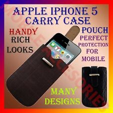 ACM-NEW ACCURATE LEATHER APPLE IPHONE 5 CARRY CASE & POUCH COVER CONVENIENCE