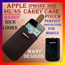 ACM-NEW ACCURATE LEATHER APPLE IPHONE 4S 4G 4 CARRY CASE & POUCH COVER