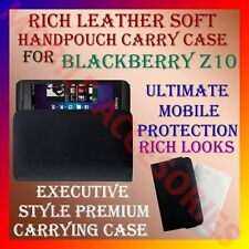 ACM-RICH LEATHER SOFT CARRY CASE for BLACKBERRY Z10 MOBILE HANDPOUCH COVER POUCH