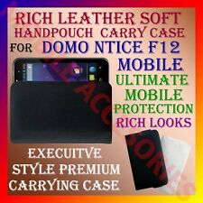ACM-RICH LEATHER SOFT CARRY CASE for DOMO NTICE F12 MOBILE HANDPOUCH COVER CASE