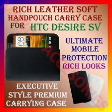 ACM-RICH LEATHER SOFT CARRY CASE for HTC DESIRE SV MOBILE HANDPOUCH COVER POUCH