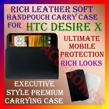 ACM-RICH LEATHER SOFT CARRY CASE for HTC DESIRE X MOBILE HANDPOUCH COVER POUCH