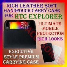 ACM-RICH LEATHER SOFT CARRY CASE for HTC EXPLORER A310E MOBILE HANDPOUCH COVER