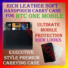 ACM-RICH LEATHER SOFT CARRY CASE for HTC ONE M7 HANDPOUCH COVER POUCH PROTECTION