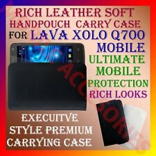 ACM-RICH LEATHER SOFT CARRY CASE for LAVA XOLO Q700 MOBILE HANDPOUCH COVER POUCH