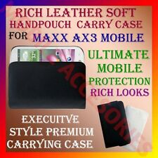 ACM-RICH LEATHER SOFT CARRY CASE for MAXX AX3 MOBILE HANDPOUCH COVER POUCH CASE