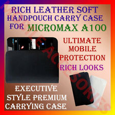 ACM-RICH LEATHER SOFT CARRY CASE for MICROMAX SUPERFONE CANVAS A100 HANDPOUCH