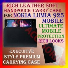 ACM-RICH LEATHER SOFT CARRY CASE for NOKIA LUMIA 925 MOBILE HANDPOUCH COVER CASE