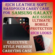 ACM-RICH LEATHER SOFT CARRY CASE for SAMSUNG ACE S5830 MOBILE HANDPOUCH COVER