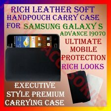 ACM-RICH LEATHER SOFT CARRY CASE for SAMSUNG GALAXY S ADVANCE I9070 HANDPOUCH