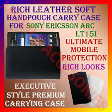 ACM-RICH LEATHER CARRY CASE for SONY ERICSSON XPERIA ARC LT15i HANDPOUCH COVER