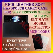 ACM-RICH LEATHER CARRY CASE for SONY ERICSSON XPERIA GO ST27i HANDPOUCH COVER