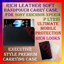 ACM-RICH LEATHER CARRY CASE for SONY ERICSSON XPERIA P LT22i HANDPOUCH COVER NEW