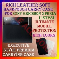 ACM-RICH LEATHER CARRY CASE for SONY ERICSSON XPERIA U ST25i HANDPOUCH COVER NEW