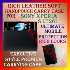 ACM-RICH LEATHER SOFT CARRY CASE for SONY XPERIA S LT26i HANDPOUCH COVER POUCH