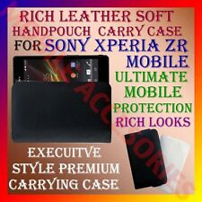 ACM-RICH LEATHER SOFT CARRY CASE for SONY XPERIA ZR MOBILE HANDPOUCH COVER POUCH