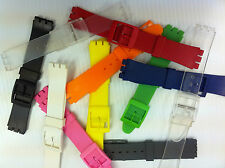 Plastic Watch Straps to suit Swatch Gents Plastic Standard size Watch