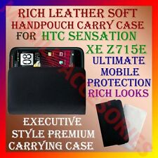 ACM-RICH LEATHER SOFT CARRY CASE HTC SENSATION XE Z715e MOBILE HANDPOUCH COVER