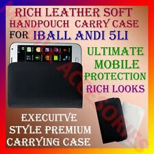 ACM-RICH LEATHER SOFT CARRY CASE IBALL ANDI 5Li MOBILE HANDPOUCH COVER LATEST