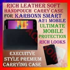ACM-RICH LEATHER SOFT CARRY CASE for KARBONN SMART A21 MOBILE HANDPOUCH COVER