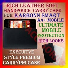 ACM-RICH LEATHER SOFT CARRY CASE for KARBONN SMART A4+ MOBILE HANDPOUCH COVER