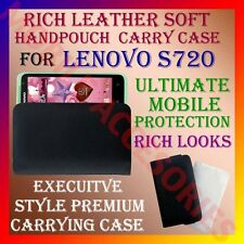 ACM-RICH LEATHER SOFT CARRY CASE LENOVO S720 MOBILE HANDPOUCH COVER POUCH LATEST