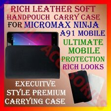 ACM-RICH LEATHER SOFT CARRY CASE for MICROMAX NINJA A91 MOBILE HANDPOUCH COVER