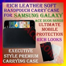 ACM-RICH LEATHER SOFT CARRY CASE for SAMSUNG ACE DUOS S6802 MOBILE HANDPOUCH