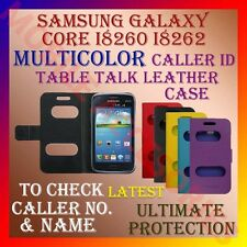 ACM-CALLER ID TABLE TALK CASE for SAMSUNG CORE I8260 I8262 FLIP  FLAP COVER NEW